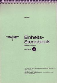 Greuter Stenoblock A: 7 mm, 3 Spalten