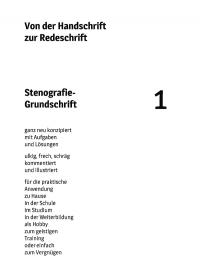 «Stenografie - Grundschrift», Band 1