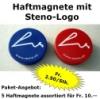 Haftmagnet mit Steno-Signet (rot oder blau)